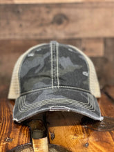 Load image into Gallery viewer, C.C. Black Camo Baseball Cap