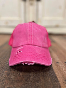C.C. Distressed Pony Tail Cap