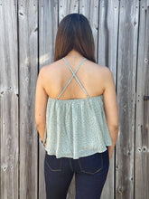 Load image into Gallery viewer, Our Star Light Top is perfect for spring. She is a beautiful hater crop top with mini stats printed all over her. She would be perfect paired with a pair of high waisted shorts!