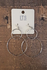 Running Around Earrings- Silver