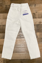 Load image into Gallery viewer, The back of our For the Love of White Jeans have extra stretch.