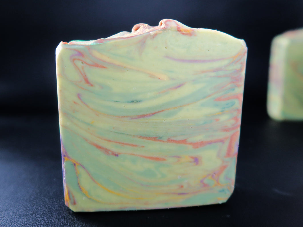 Lemon Clover & Moringa Tea cold process soap (palm free)