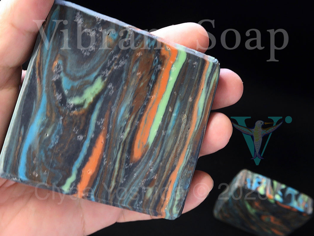 Rainbow Eucalyptus (palm free with essential oils) cold process soap bars