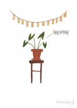 illustratie in Gallery-weergave laden, Wenskaart - Happy birthday