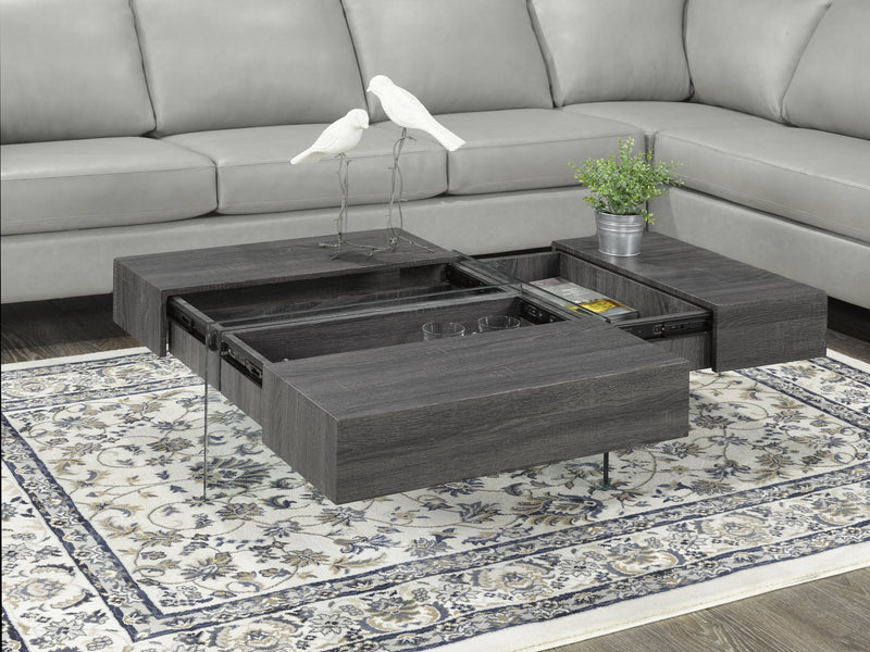 Allen Coffee Table with Storage - Grey