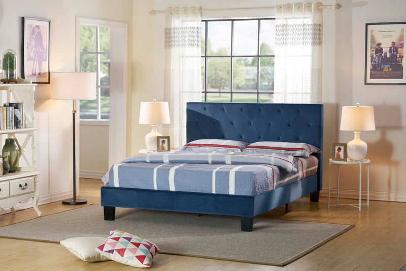 Scranton Platform Bed-Blue