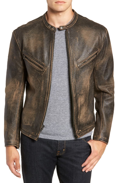 Calfskin Leather Jacket Atlas Jacket