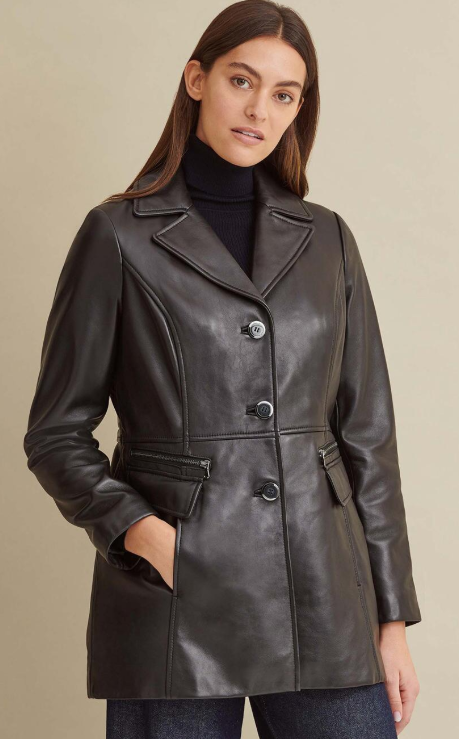 Maeve Thinsulate Leather Car Coat