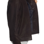 Westhaven Distressed Leather Bomber Jacket
