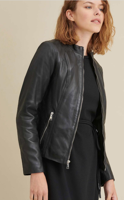 Meg Leather Scuba Jacket