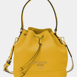 Daino Bucket Bag w/ Removable Web & Leather Straps