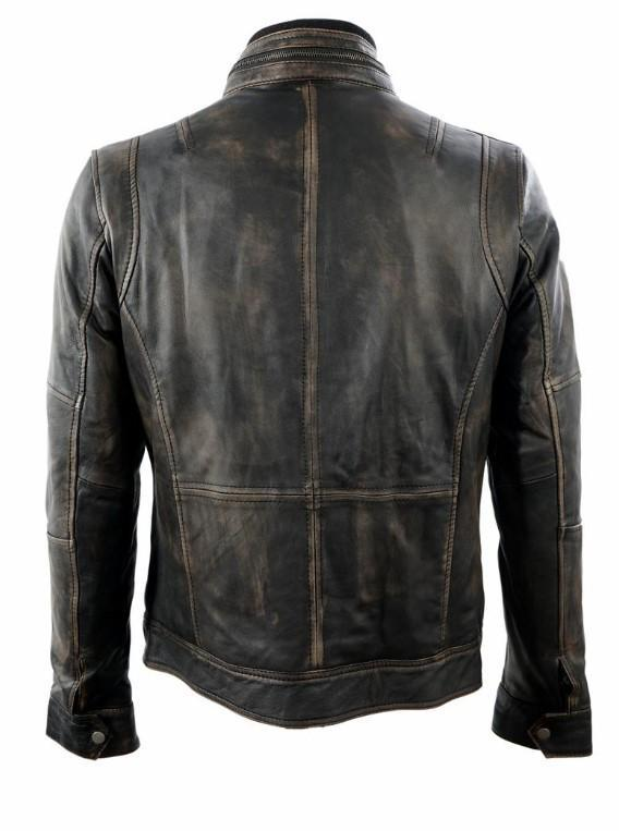 All saint Cafe Racer Vintage Distressed Motorcycle Retro Leather jacket