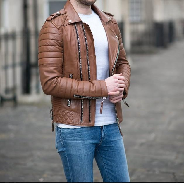 Biker Riding Genuine Real Leather Jacket