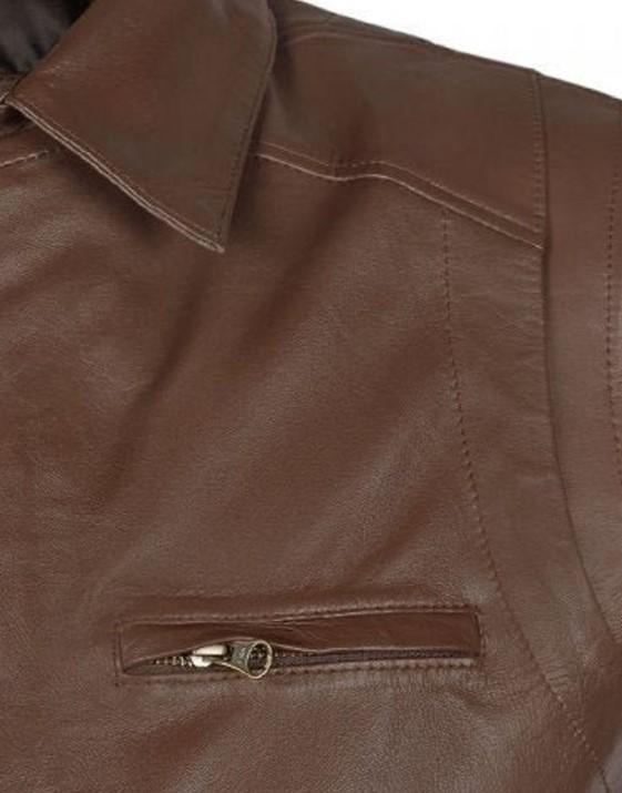 Leather bomber Jacket Bomber Lambskin Leather brown jacket