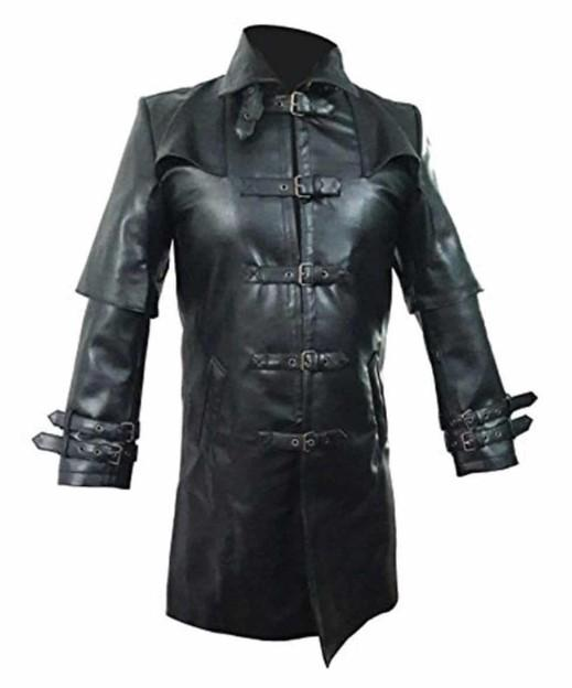 Trench Coat Real Cow Leather Coat