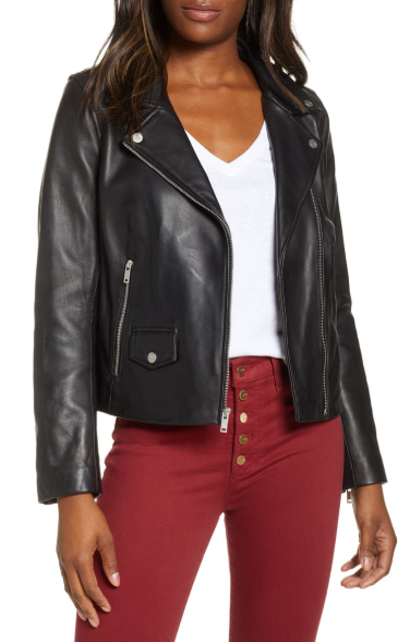 Alba Leather Moto Jacket
