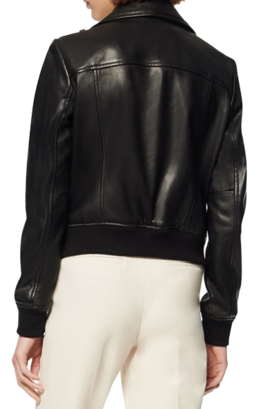 Sandino Leather Bomber Jacket