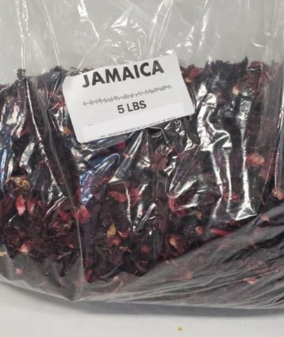 Bulk Jamaica Flor (Hibiscuss Flower) (5 lb bag)