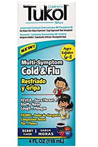 Tukol Cold & Fever Relief 4 oz Mora/ Berries