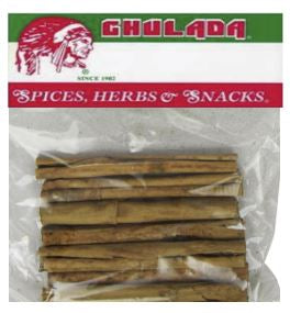 Chulada Canela Entera (Whole Cinnamon) 12/1.69
