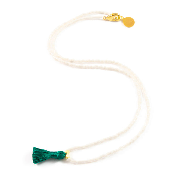 Mini Tassel Necklace- Wildflower Colors