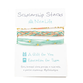Scholarship Give Back Stacks- with Gold