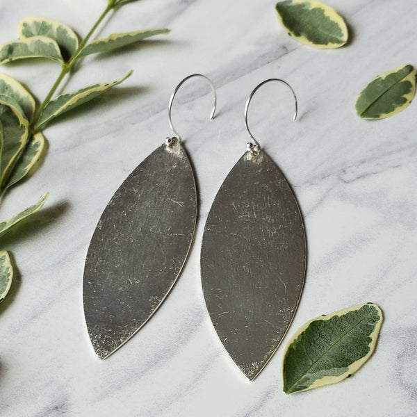 Brushed Leaf Earrings