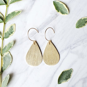 Brushed Teardrop Earrings