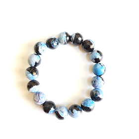 Men's Blue Jasper Stacking Gemstone Bracelet