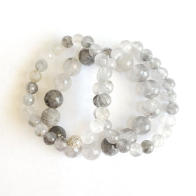 Gray Skies Stacking Gemstone Bracelet Set