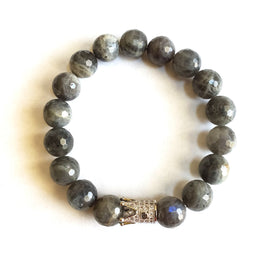 Labradorite Crown Gemstone Bracelet