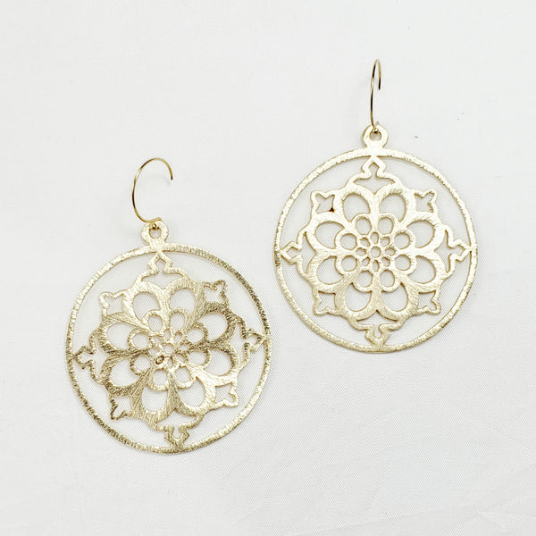 Brushed Mandala Earrings