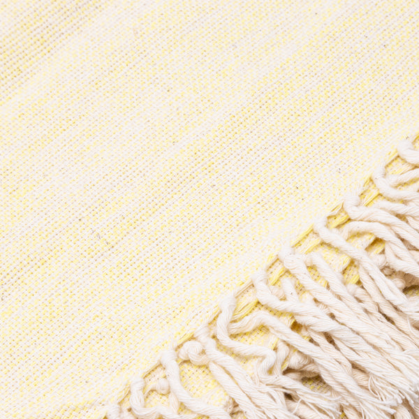 Mixed Weave Blanket- Yellow