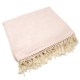 Mixed Weave Blanket- Pink