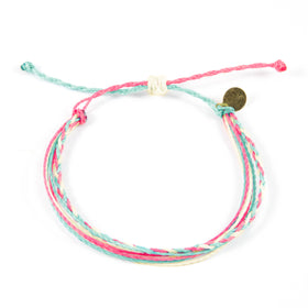 Braided String Bracelet- Wildflower Colors