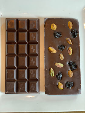 Pistachio Dark Cherry Chocolate Bar