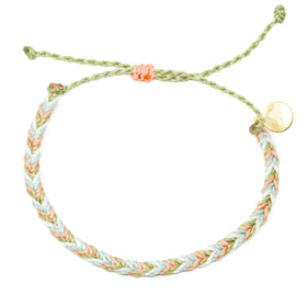 Chevron String Bracelet- Bright Neutral Colors