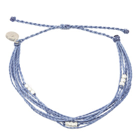 Macua String Bracelet- Bright Neutral Colors in Silver