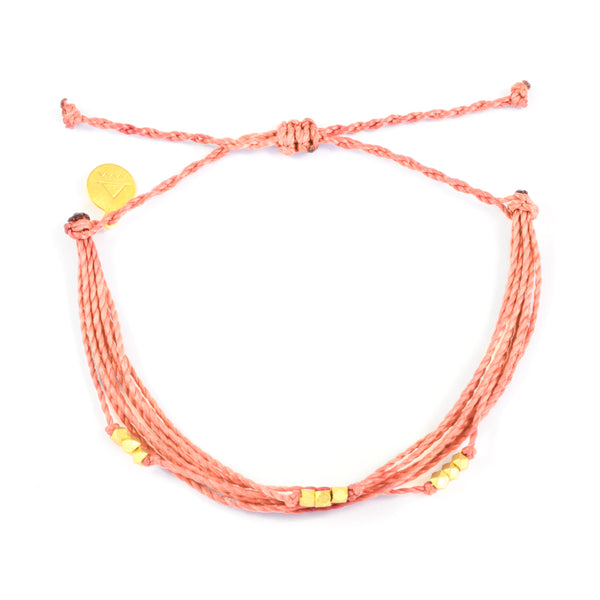 Macua String Bracelet- Bright Neutral Colors in Gold