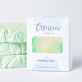 Vegetarian Soap--Rosemary Mint Scent