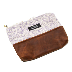 Handwoven & Leather Pouch