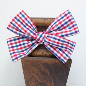 Red and Green Checkered -Little Lady Hair Bow