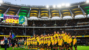 Rugby Australia Wallabies line up