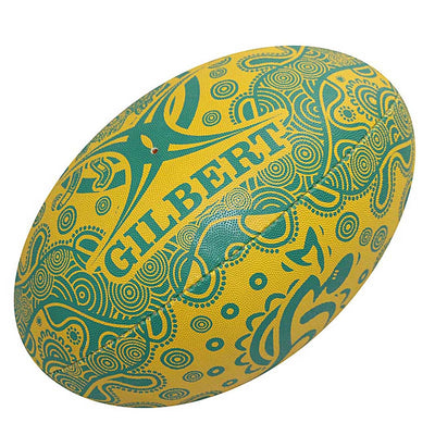 Gilbert Wallabies Indigenous Supporter Rugby Ball