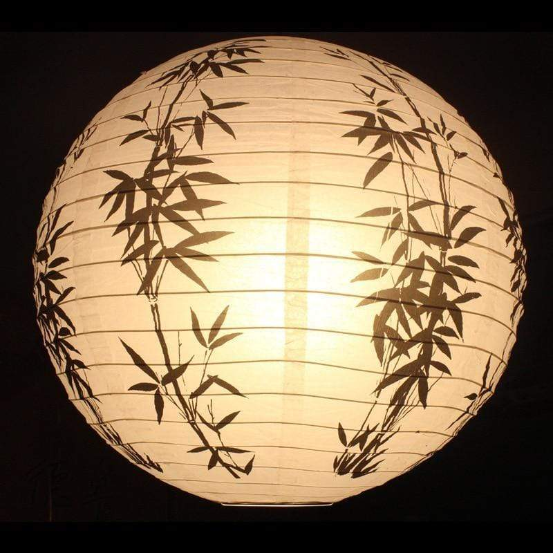Black Bamboo </br> Japanese Lamp