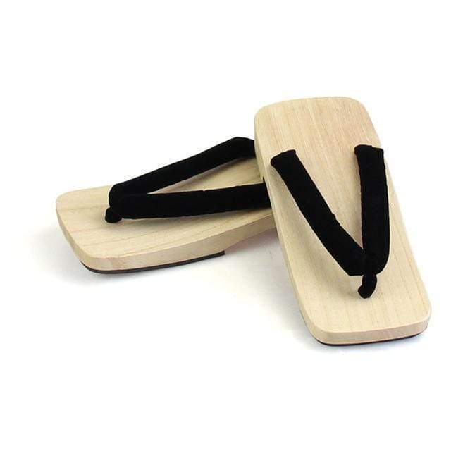 Black Flat Geta Sandals </br> Japanese Geta