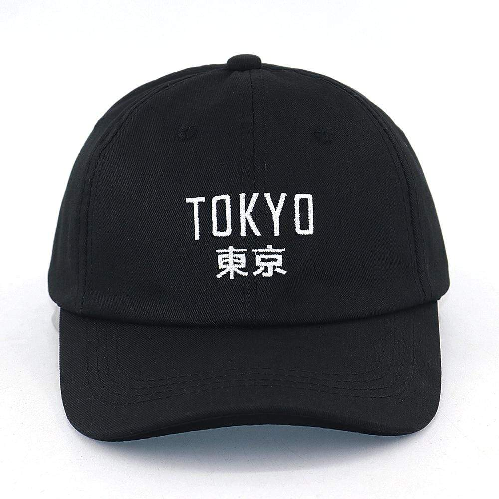 Japanese Cap New Arrival Japan cap Tokyo City embroidery fashion baseball cap 100% cotton adjustable black hip hop snapback hat