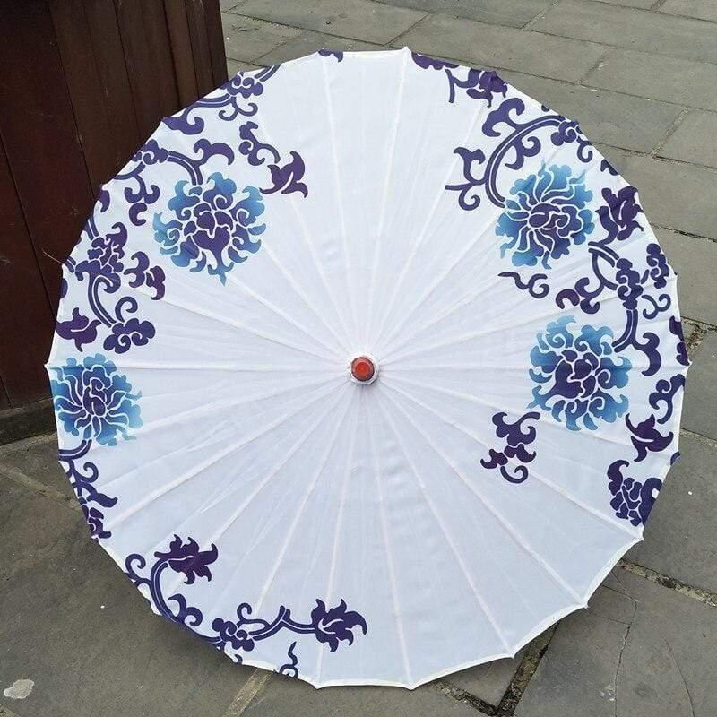 Japanese Blue Pattern Umbrella