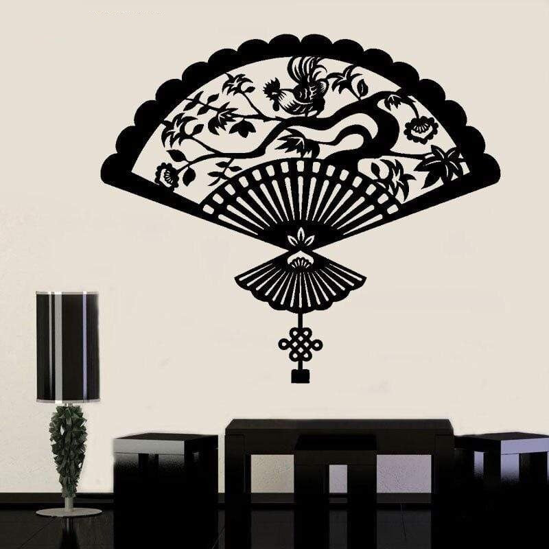 Japanese Wall Decals - Fan