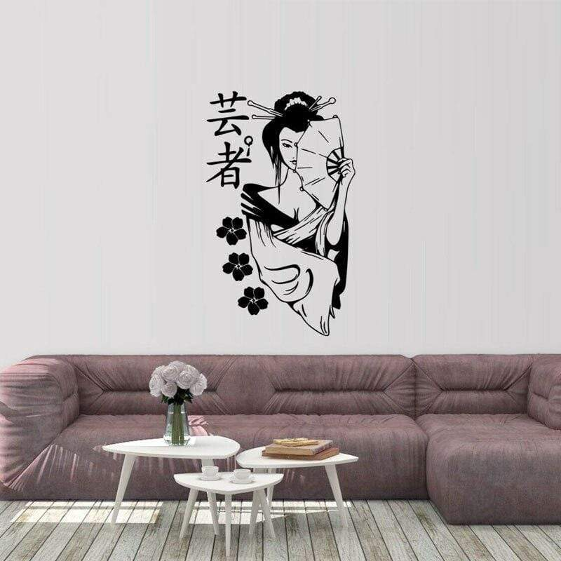 Japanese Wall Decals - Geisha Girl